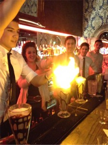 Cocktail flames