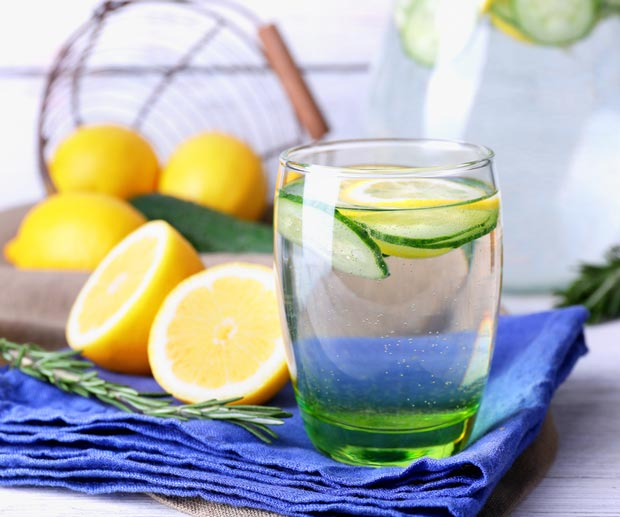 lemon and cucumber water