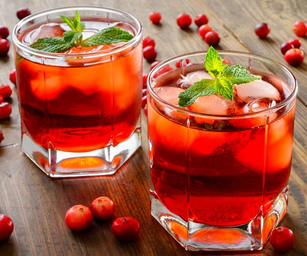 orange and cranberry spritz