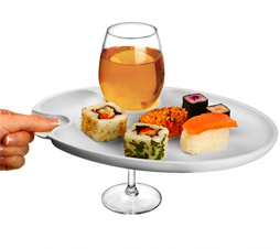 buffet wine and dine plate