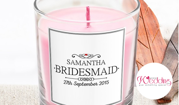 Scented Candle – Personalised Wedding Gifts