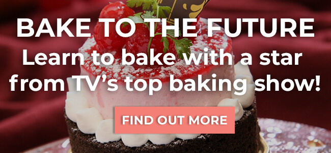 Bake to the Future Learn to bake with a star from TV's top baking show.