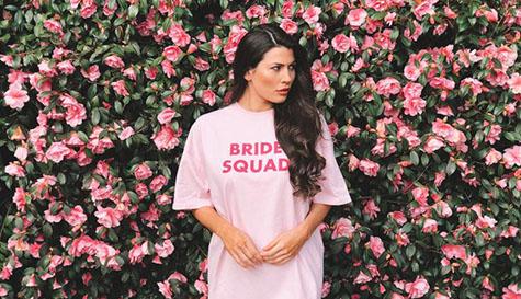 bride squad pjs sleep tee