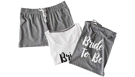 bride to be pj shorts