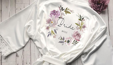 loral bride dressing gown personalised