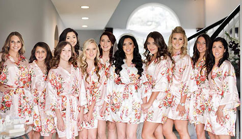 loral bridesmaids dressing gowns