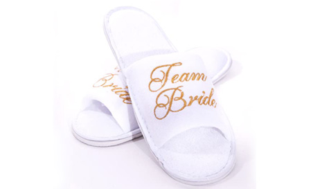 eam bride bridesmaid slippers
