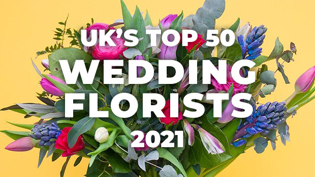uk top 50 wedding florists 2021 banner