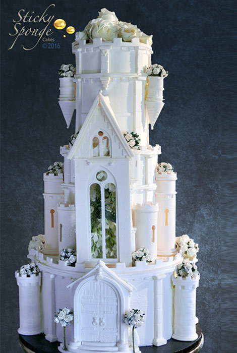 wedding castle cake