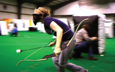archery tag hen party activity