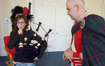 bagpipe experience