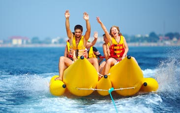 banana boating hen party activity