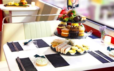 boozy afternoon tea bus