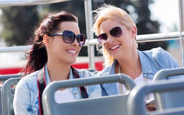 open air bus tour hen party activity