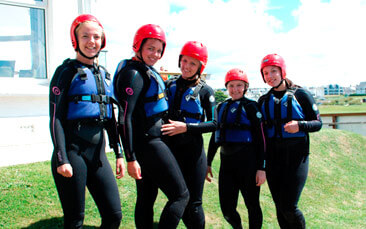 canyoning hen party activity