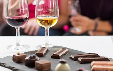chocolate and wine tasting hen party activity
