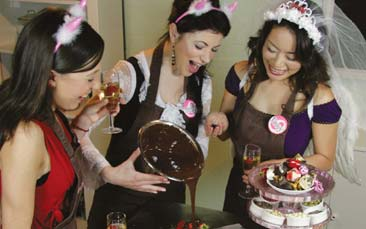 chocolate making hen party activity
