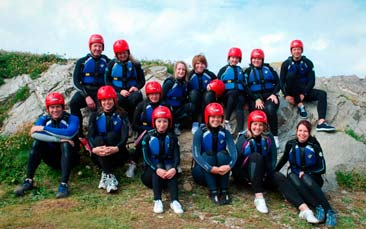 coasteering hen party activity