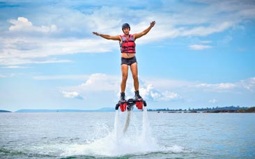 extreme water jetpack hen party activity