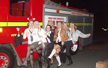 fire engine limo hen party activity