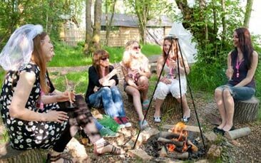 glamping day package hen party activity