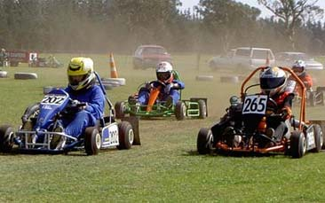 grass karting hen party activity