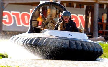 hovercraft racing hen party activity