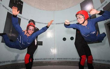 indoor skydiving hen party activity