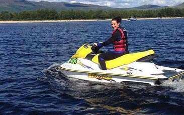 jet skiing hen party activity