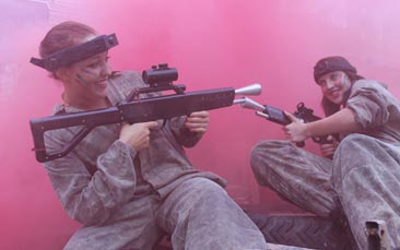 laser combat hen party activity