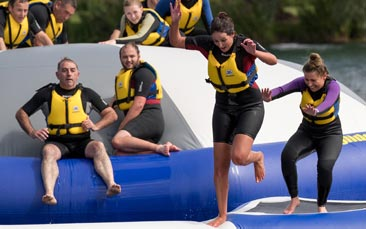 mega water sports hen party activity