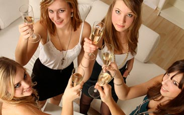 mobile prosecco tasting hen party activity