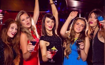 VIP nightclub package hen party activity