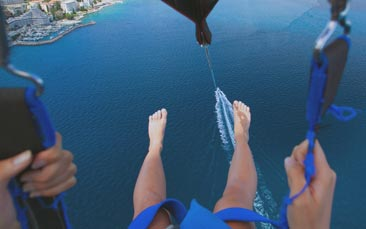 parasailing hen party activity
