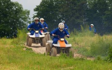 quad biking hen party activity