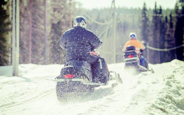 snowmobiling hen party activity