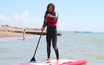 stand up paddleboarding hen party activity
