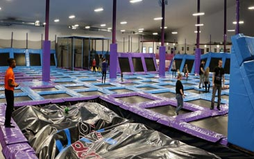 trampoline park hen party activity