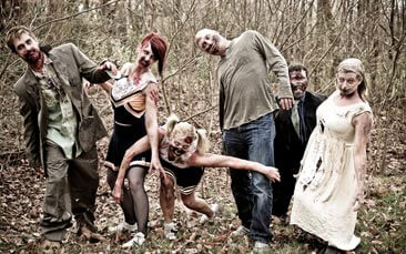zombie boot camp hen party activity