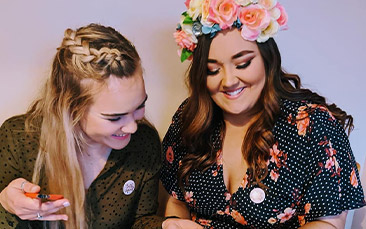 faux flower crown workshop