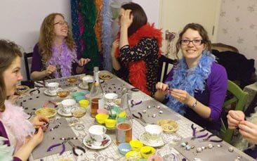 jewellery making with afternoon tea