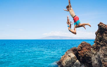cliff jumping, sea kayaking & snorkelling