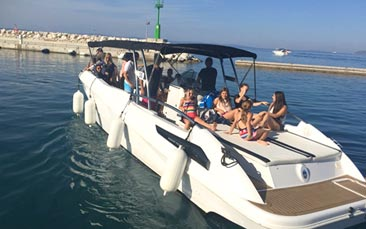 luxury speed boat trip
