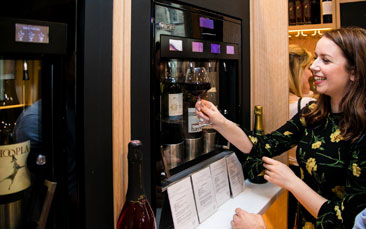 self-service wine discovery