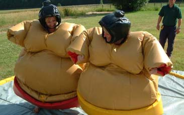 sumo wrestling and gladiator duel