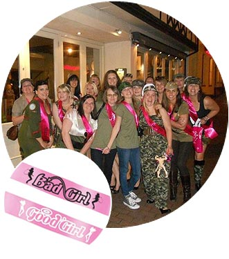 hen night sashes