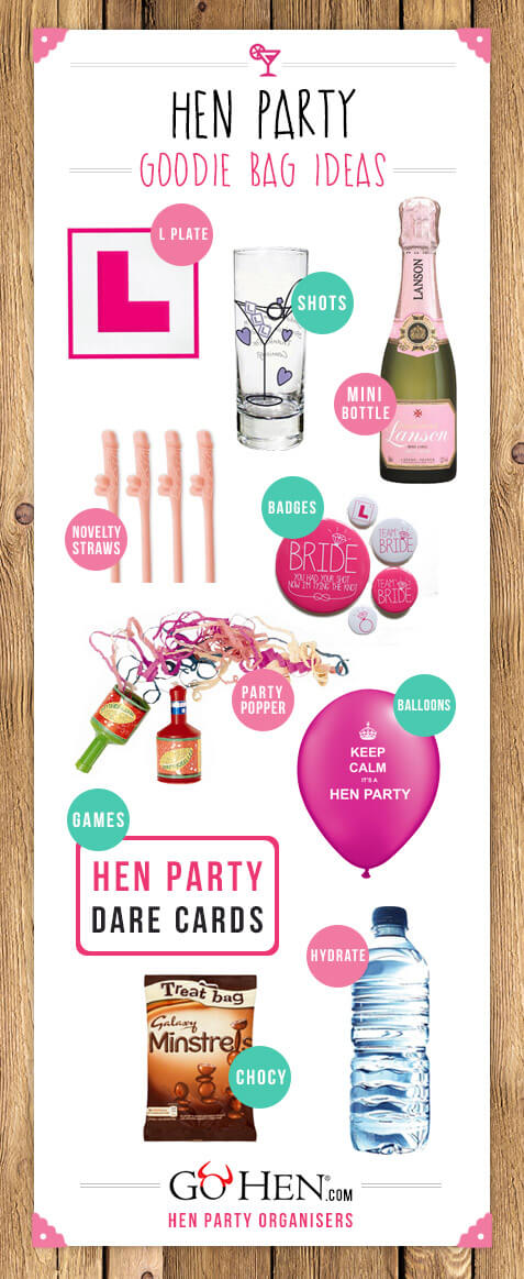 Hen Party Goo Bag Ideas
