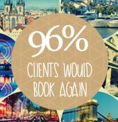 96% of clients would book again