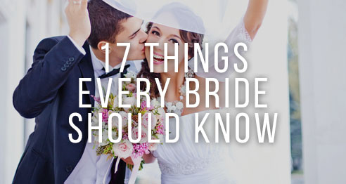 17 things every bride should know