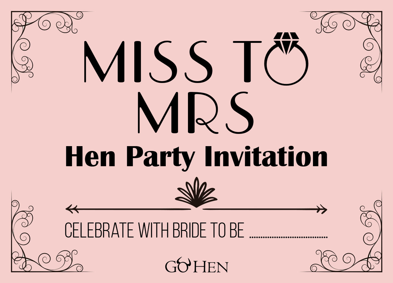 do it for her template - hen party invitations funky retro hen invites